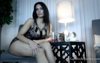 Goddess Harley - Drinking Date On Your Knees